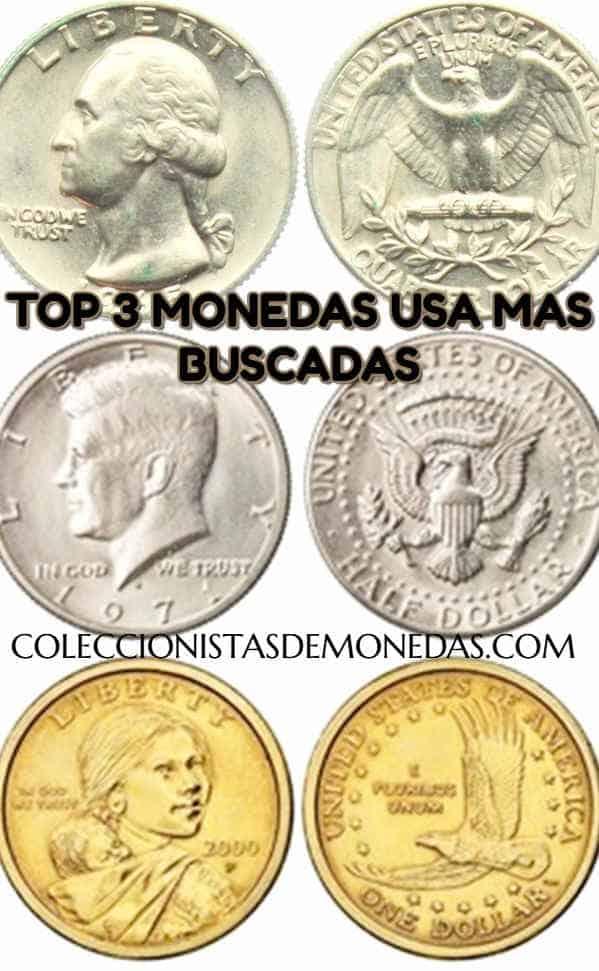 monedas antiguas+usa+precio