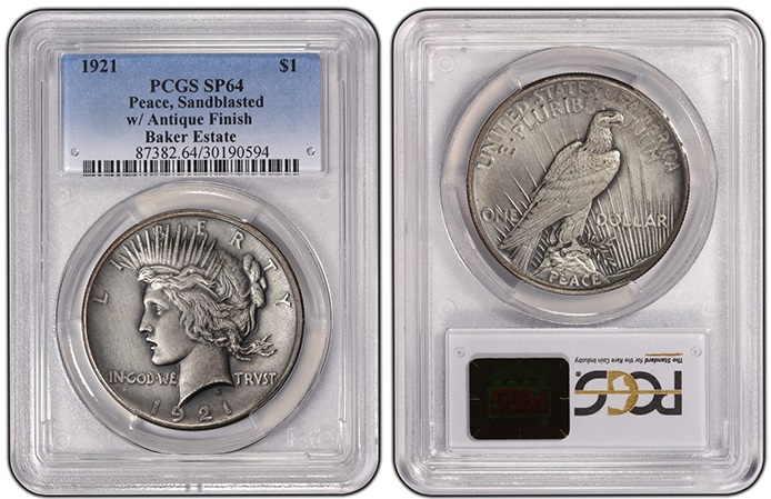 dolar plata 1921