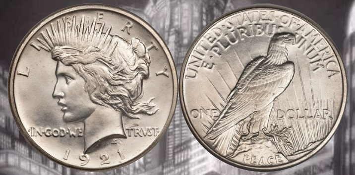 1921 s morgan silver dollar value