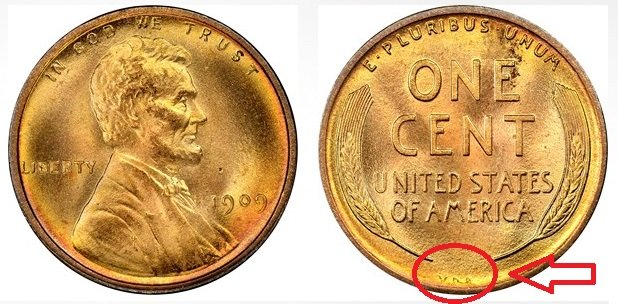 wheat penny from 1944